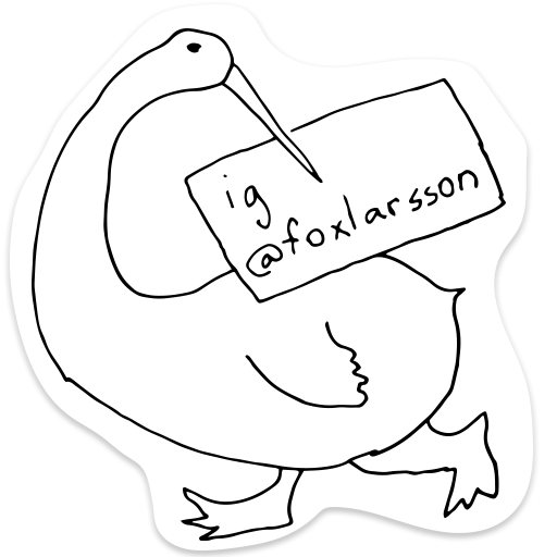 fox larsson goose sticker