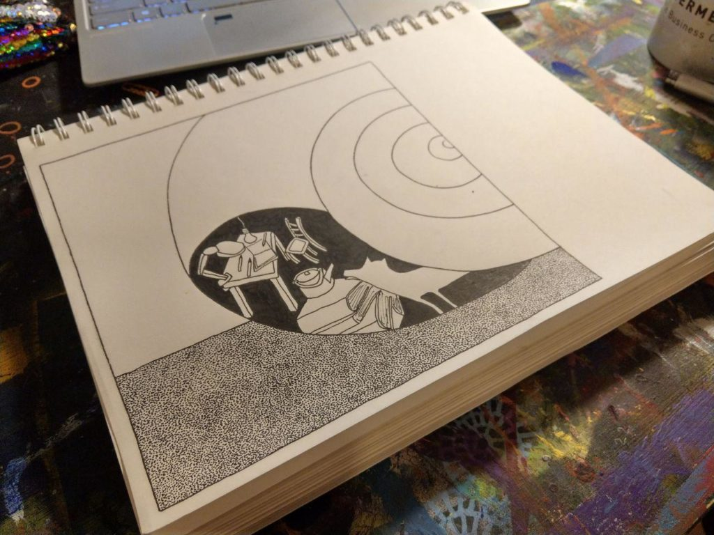ghost in the shell by drawing process